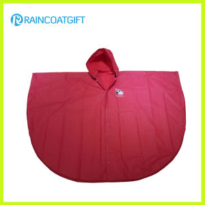 Waterproof Adult Red PVC Raincoat (RVC-006A) pictures & photos