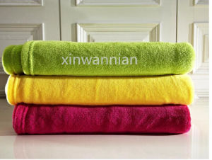 Many Colors Plain 100% Polyester Coral Fleece Blanket (XWN-SH021)