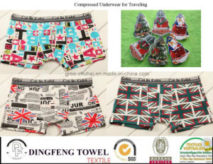 Promotional Gift Compressed Traveling Printed Boxer Underwear Df-2023 pictures & photos