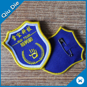 Quality Bordure Weaving Patches for Clothing with Pin Back on pictures & photos