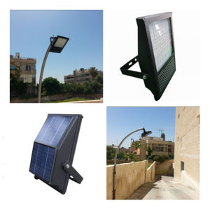 Al-in-One Solar Flood Light, LED Flood Lights. Low Voltage Outdoor Sign Lighting Solar Lights