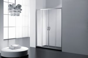 Two Fixed Two Sliding Tempered Glass Shower Door pictures & photos