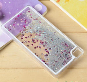 China Wholesale High Quality PC Liquid Sand Cell Phone Cover Case for Huawei P8 P9 Quicksand Phone Case pictures & photos