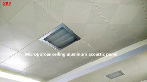 Microporous Ceiling Aluminum Acoustic Panel Decoration Ceiling Panel pictures & photos