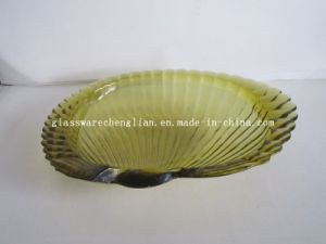 Solid Color Shell-Shape Glass Plate (P-018) pictures & photos