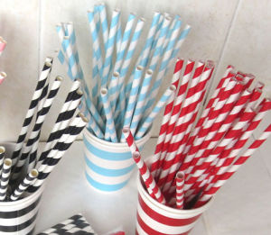 Colorful Eco Friendly Party Paper Drinking Straw Plastic Straws for Food Grade pictures & photos