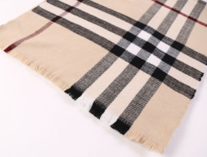 Cheap Acrylic Cashmere Wool Feel Shawls Pashmina Plaid Blanket Scarf pictures & photos