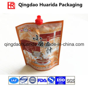 Customized Stand up Pouch with Spout for Beverage Packaging pictures & photos