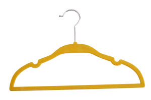 2015 Flocked Plastic Fashion Children Garment Velvet Kids Hanger