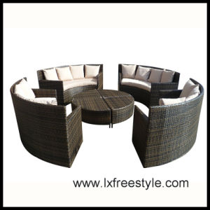 Round PE Wicker Sofa Set with SGS Certification (SF-022)