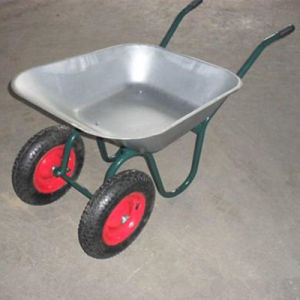 Manufacturing Double Wheel Construction Concrete Wheelbarrow/Wheel Barrow (high quality&competitive price wb6410) pictures & photos