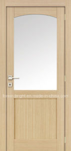Interior MDF Door with Round Arch Glass pictures & photos