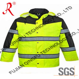 Wholesale Reflective Waterproof Safety Jacket (QF-533) pictures & photos