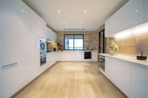 Contemporary Kitchen Cabinet Modern White Kitchen #0417 pictures & photos