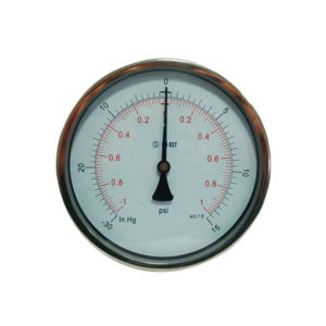 6inch-150mm Half Stainless Steel Back Liquid Filled Pressure Gauge pictures & photos