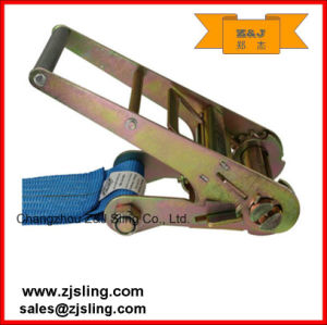 "1""- 4"" Double J Polyester Ratchet Lashing Strap (customized) pictures & photos"