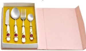 Pink Fork Spoon Kitchen Ware Gift Set