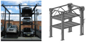 Hydraulic Four Car Parking Lift Dfps3-2p