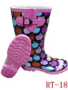 High Quality Women Rubber Rain Boot (RT-18) pictures & photos