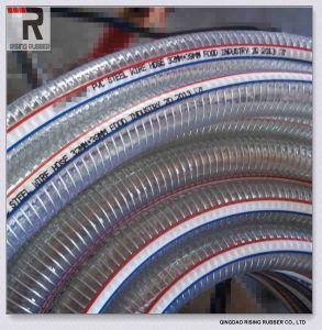 Transparent Non-Toxic PVC Steel Wire Hose pictures & photos
