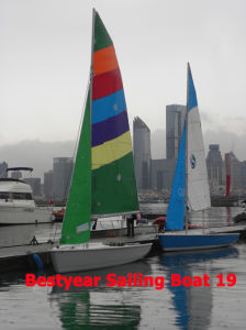 "Bestyear 19"" Sailing Boat for Racing pictures & photos"
