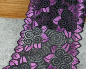 High Quality 18cm Multiple Color Elastic Lace for Decoration pictures & photos