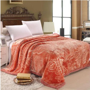 Autumn and Winter Thickening Solid and Embossed Mink Blanket (SR-B170317-7) pictures & photos