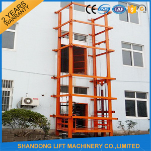 14m Hydraulic Goods Guide Rail Chain Lift Use for Industry pictures & photos
