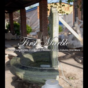 Green Marble Stone Wall Fountain for Garden Furniture Mf-1290 pictures & photos