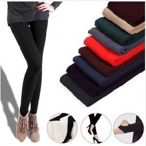 Fashion Women Warm Thick Fleece Stretch Skinny Pants (SR8231) pictures & photos