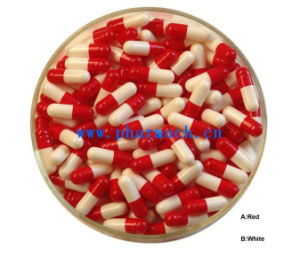 Empty Hard Gelatin Gel Capsule Red/White pictures & photos