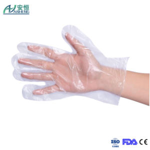 Disposable Protective Transparent Poly Gloves for Food Handing pictures & photos