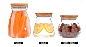 High Borosiliacte Glass Jar Food Container for Kitchenware pictures & photos