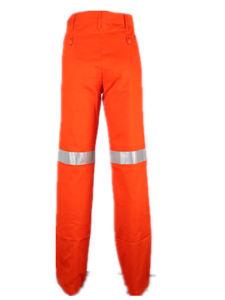 Hi-Vis Orange Mens Safety Reflective Tape Work Wear Pants pictures & photos