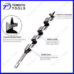 Hex Shank Wood Auger Drill Bit for Wood