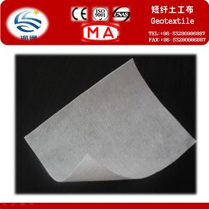 400g Short Fiber Needle Punched Nonwoven Geosynthetics pictures & photos