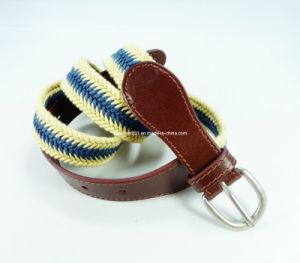 Skinny Canvas Weaving Leather Belt for Women (EUBL0437-25)