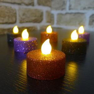 LED Candle Glitter Tea-Light /Colorful Gliter
