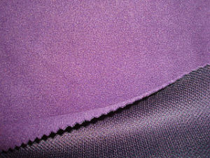 Polar Fleece Bonded Tricot Mesh Fabric pictures & photos
