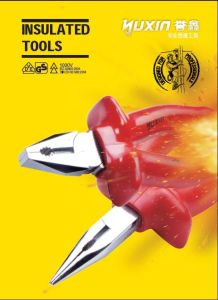 Moulded Double Colored Insulated Ratchet Wrench pictures & photos