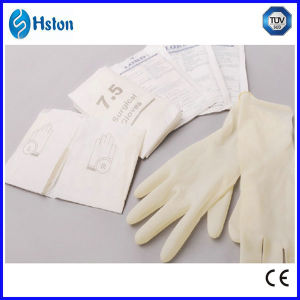Disposable Latex Surgical Gloves Powder/Powder-Free pictures & photos