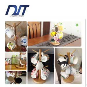 Custom Design Coffee Wood Cup Holder with Round Base pictures & photos