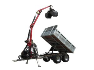 ATV Forest Trailer Crane 350 with Hydraulic Winch ATV Trailer pictures & photos