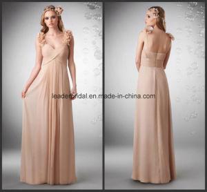 Double Shoulder Evening Ladies Gowns Chiffon Bridesmaid Dresses Z3047 pictures & photos