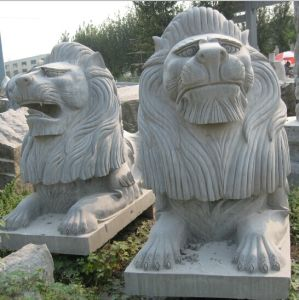 Granite Marble Stone Fountain Carving Lion Sculpture for Wall or Garden Decoration pictures & photos