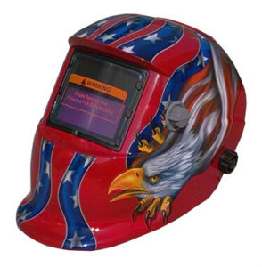 Silver Color Auto Darkening Welding Mask with Eagle Pattern Ce pictures & photos