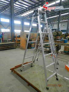 High Quality Aluminum Ladder with Foldable pictures & photos