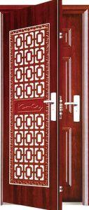 Decorated High Quality Security Exterior Steel Door