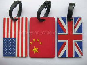 The National Flag Soft PVC Luggage Tag for Sovenir Gift pictures & photos