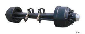 "High Quality American Style Axle/127mm Square/8""Brake Size/13 Tons/Rear Axle pictures & photos"